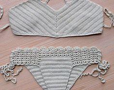 EXPRESS CARGO Coral Crochet Brazillian Bikini by formalhouse