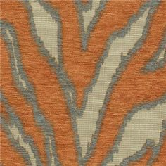 Katniss Tangerine Chenille Animal Design Upholstery Fabric by Swavelle Mill Creek - SW35426 - Fabric By The Yard At Discount Prices