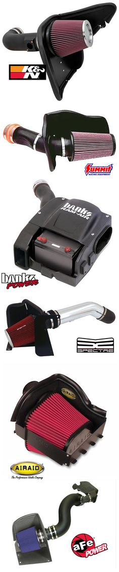 Help your engine breathe in a higher volume and velocity of air with one of our many air intake kits. Summit Racing carries air intake kits and cold air intake kits from KN Filters, aFe Power, Banks Power, Airaid, Spectre and more.