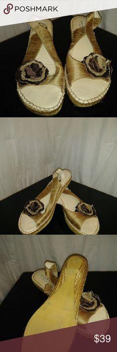 Eric Michael Sandals Espadrille in Mocha Size 10 w Eric Michael Sandals Espadrille in Mocha Size 10 with Stitching Eric Michael Shoes Sandals