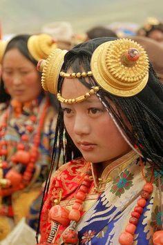Khampa Tibetan Woman at the annual Litang, China Horse Festival - by BetterWorld2010 - #World