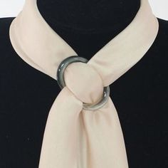 Fashion Natural Shell Scarf Ring for Silk Scarves Buckles Brooch Ladys Gifts NEW | eBay