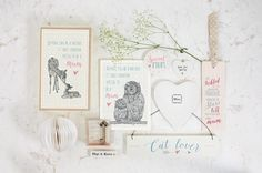East of India Mothers Day Gifts. Owl Card (Code 2528) Cat Lover Sign (Code 860) and Tickled My Toes Mum Bookmark (Code 1972)