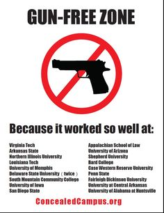Because they worked so well at...  http://1withabullet.files.wordpress.com/2011/03/gunfreesign.jpg