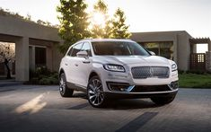 Download wallpapers Lincoln Nautilus, 2019, front view, new luxury SUV, USA, white Nautilus, American cars, Lincoln