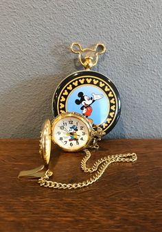 Mickey Mouse Train Engineer Pocket Watch- Vintage Disney Railroad Pocket Watch in Original Tin by MagicalNostalgia on Etsy Mickey Mouse Train, Mickey Mouse Watch, Vintage Mickey Mouse, Vintage Disney, Mickey Mouse Pictures, Disney Pictures, Original Mickey Mouse, Railroad Pocket Watch, Vintage Pocket Watch