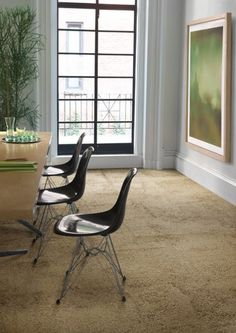 Interface luxury vinyl tiles are fully modular and set the standard for quality and performance. Browse our LVT offerings. Commercial Carpet Tiles, Commercial Flooring, Vinyl Tiles, Vinyl Flooring, Corporate Interiors, Luxury Vinyl Tile, Beautiful Interiors, Wood Grain, Floor Chair