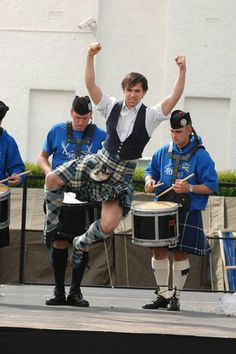 Doing a jig in kilt #highland #dance. Love the heel click!
