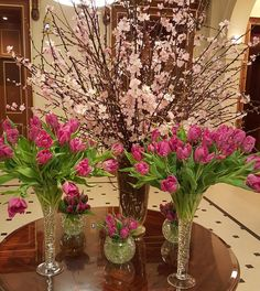 Almost spring with this amazing pink floral display at The Lanesborough Visit Britain, Exeter, Lake District, Glass Vase, Display, London, Spring, Amazing, Instagram Posts