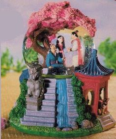 Disney Snowglobes Collectors Guide: Mulan Waterfall Snowglobe