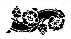Border No 26 stencil from The Stencil Library ARTS AND CRAFTS range. Buy stencils online. Stencil code DE26.