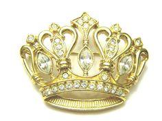 Vintage KJL for Avon Crown Brooch Kenneth J by VintageJewelryPlus, $35.00