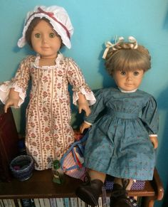 Felicity and Kirsten, my first two dolls!