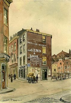 Zo Was Utrecht: Choorstraat 1890 door Grolman
