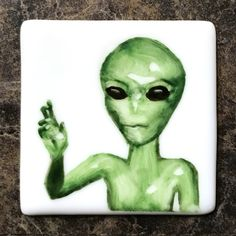 Alien hand painted on porcelain magnet. Painted Porcelain, Hand Painted, Alien Hand, Aliens, Magnets, Culture, Painting, Fictional Characters, Art