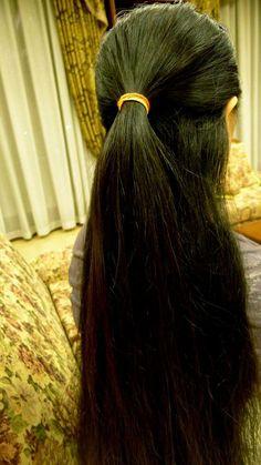 Long Hair Ponytail, Ponytail Hairstyles, Beautiful Girl Indian, Beautiful Long Hair, Free Hair, Braids, Hair Beauty, Long Hair Styles, Awesome