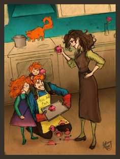 Ron, Rose and Hugo try to make a Motherss Day Gift for Hermione and this is how said person finds them....
