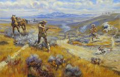 Buffalo Bill's Duel with Yellowhand by Charles Marion Russell