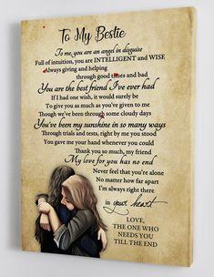 Gift For Bestie - Best Friends - Framed Canvas FF001
