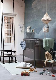 Decorating a room for a baby is always fun and exciting. The nursery trends prediction here might be intriguing for you. Baby Boy Rooms, Baby Boy Nurseries, Baby Room, Baby Cribs, Deco Kids, Cool Kids Rooms, Nursery Room, Kids Bedroom, Themed Nursery