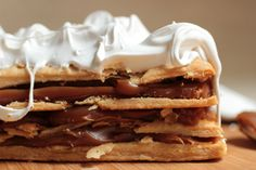 Dulce de Leche Mille Feuille - with quick puff pastry - Must try this.