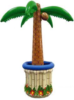 Opblaas palmboom drankkoeler. Hawaii of tropisch feestje? Bij Fun en Feest vind je de leukste Hawaii feestartikelen, versiering en decoratie.