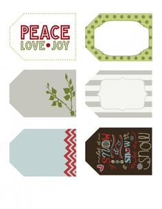 Free Christmas Gift Tags   Free Printable Labels   www.MoritzFineBlogDesigns.com