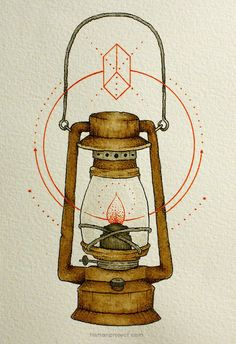 lantern- pen and watercolor illustrations by clint reid