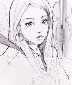 pencil warm up from photo. Anime Drawings Sketches, Pencil Art Drawings, Anime Sketch, Manga Drawing, Cute Drawings, Really Cool Drawings, Character Drawing, Art Tutorials, Art Inspo