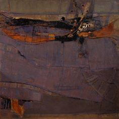 Sévérac: Rives - 120x120 - huile sur toile