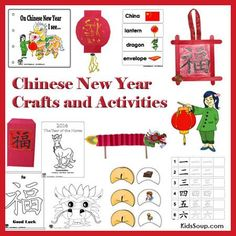 Chinese New Year Preschool Crafts, Activities, Lessons, and Games