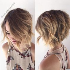 A little bit shorter with every appointment 😉 and her hair painting is still looking fabulous from 12 weeks ago. Short Haircuts With Bangs, Short Layered Haircuts, Haircuts For Fine Hair, Haircut For Thick Hair, Layered Bobs, Short Hair With Layers, Short Hair Cuts For Women, Short Asymmetrical Haircut, Medium Hair Cuts
