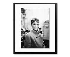 Ingelijste foto Audrey Hepburn, 1955, 40 x 50 cm