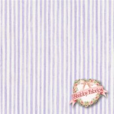 """Cherished Memories 24194-LIL1 Lilac By Arlene Neely For Red Rooster Fabrics: Cherished Memories is a collection by Arlene Neely for Red Rooster Fabrics.  100% cotton.  43/44"""" wide.  This fabric features a purple and cream stripe."""
