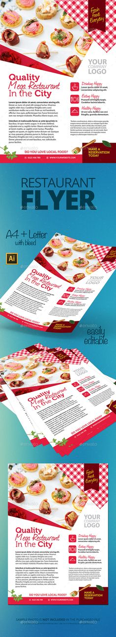 Restaurant Food Order Flyer Template 108 Flyer template and - restaurant flyer