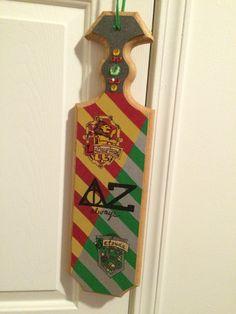 Harry Potter Delta Zeta paddle I made for my beautiful Little!