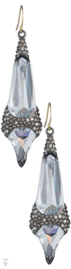 Alexis Bittar Crystal Encrusted Fancy Shield Drop Earring