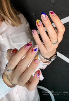 63 Cute Nail Designs for Every Nail Length & Season: Cute Nails to Try How to apply nail polish? Nail polish on your friend's nails looks perfect, neverthe Funky Nails, Cute Nails, Pretty Nails, Funky Nail Art, Pretty Nail Designs, Nail Art Designs, Nail Polish Designs, Hair And Nails, My Nails
