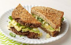 69 Quick Low-Calorie Lunches That Are Yummy To Eat Egg Salad Sandwiches, Sandwich Recipes, Salad Recipes, Florence Food, Tyler Florence, Easy Healthy Recipes, Easy Meals, Free Recipes, Watercress Recipes