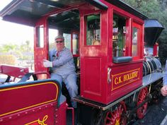 Ask for the special tender seat on the Disneyland railroad.