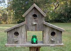 Rustic Reclaimed Cedar Birdhouse Barn by SwampwoodCreations