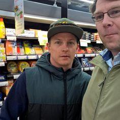 Kimi shopping in Espo Finland