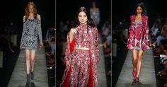 Para o próximo inverno, a marca PatBo, da estilista Patrícia Bonaldi, investiu em uma coleção com looks estampados e com bordados carregados de brilhos