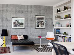 The contemporary concrete walls look works so well in many applications, but forget the hassles of cement and rebar, with our super real concrete wallpaper you easily set up your own concrete wall!