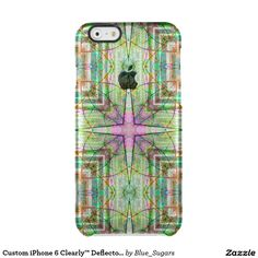 Custom iPhone 6 Clearly™ Deflector - Star Flower Uncommon Clearly™ Deflector iPhone 6 Case