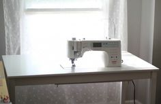 How to countersink your sewing machine into a table DIY IKEA Sewing Table Tutorial   from Marta with Love