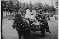 De oude Jan Blom op de Markt-Zuidhaven te Zevenbergen (Blommeke de Schillenboer)