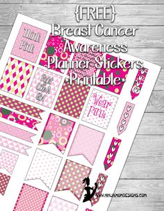 Breast Cancer Awareness Planner Stickers