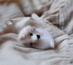 Puppy dog brooch pin dog stuffed animal dog jewelry by OlgaMareeva