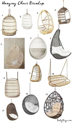 Hanging Chair Roundup & Styling Ideas Hanging chair, Bedroom hanging chair, Balcony decor, Bedroom d Girl Bedroom Designs, Room Ideas Bedroom, Bedroom Decor, Tween Room Ideas, Bedroom Furniture, Pipe Furniture, Modern Bedroom, Garden Furniture, Modern Teen Room